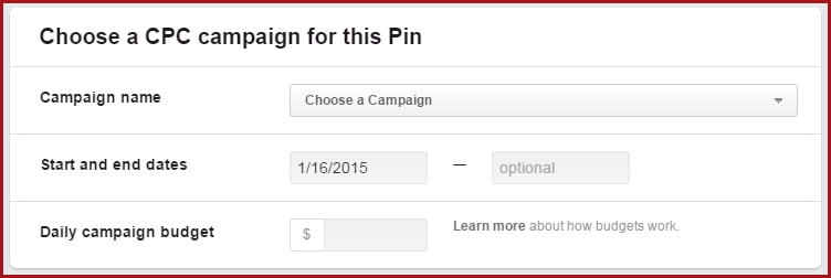 Promoted Pins Pinterest CPC